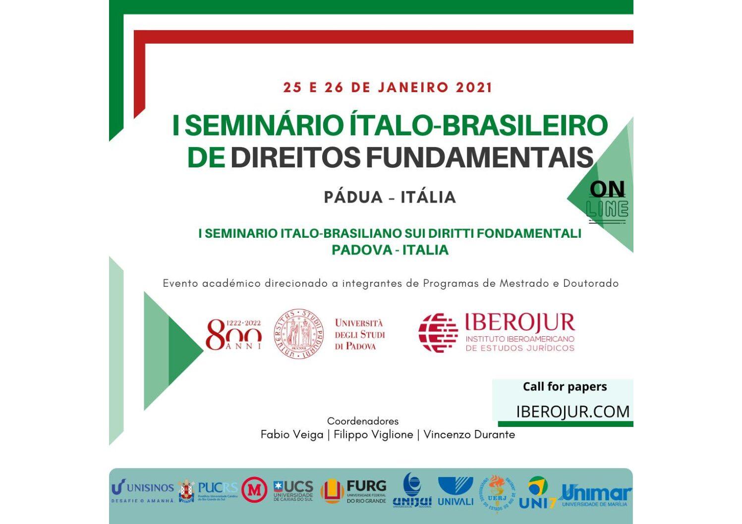 """Criminologia e Filosofia nel """"I Seminario Italo-Brasiliano sui Diritti Fondamentali"""""""