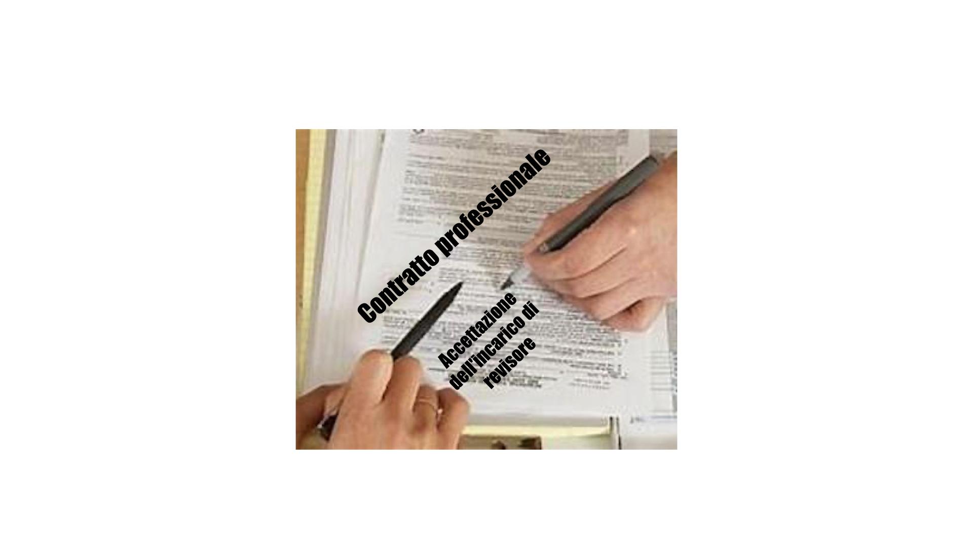 Conferimento dell'incarico e esempio di lettera di accettazione dell'incarico redatta dal revisore